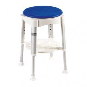Shower Stool Rotating Padded Seat