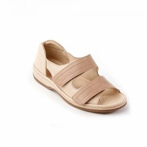 Cheryl Ladies Ultra Wide Twin-strap Sandal For Swollen Feet